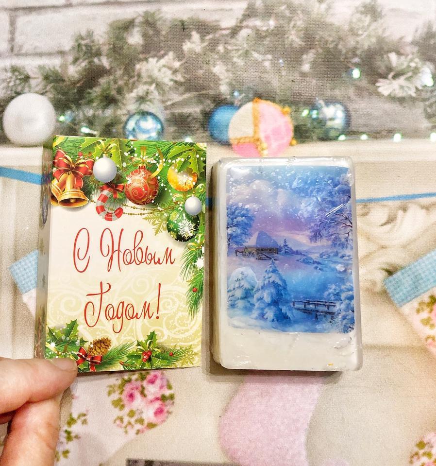 фото Новогоднее мыло открытка
