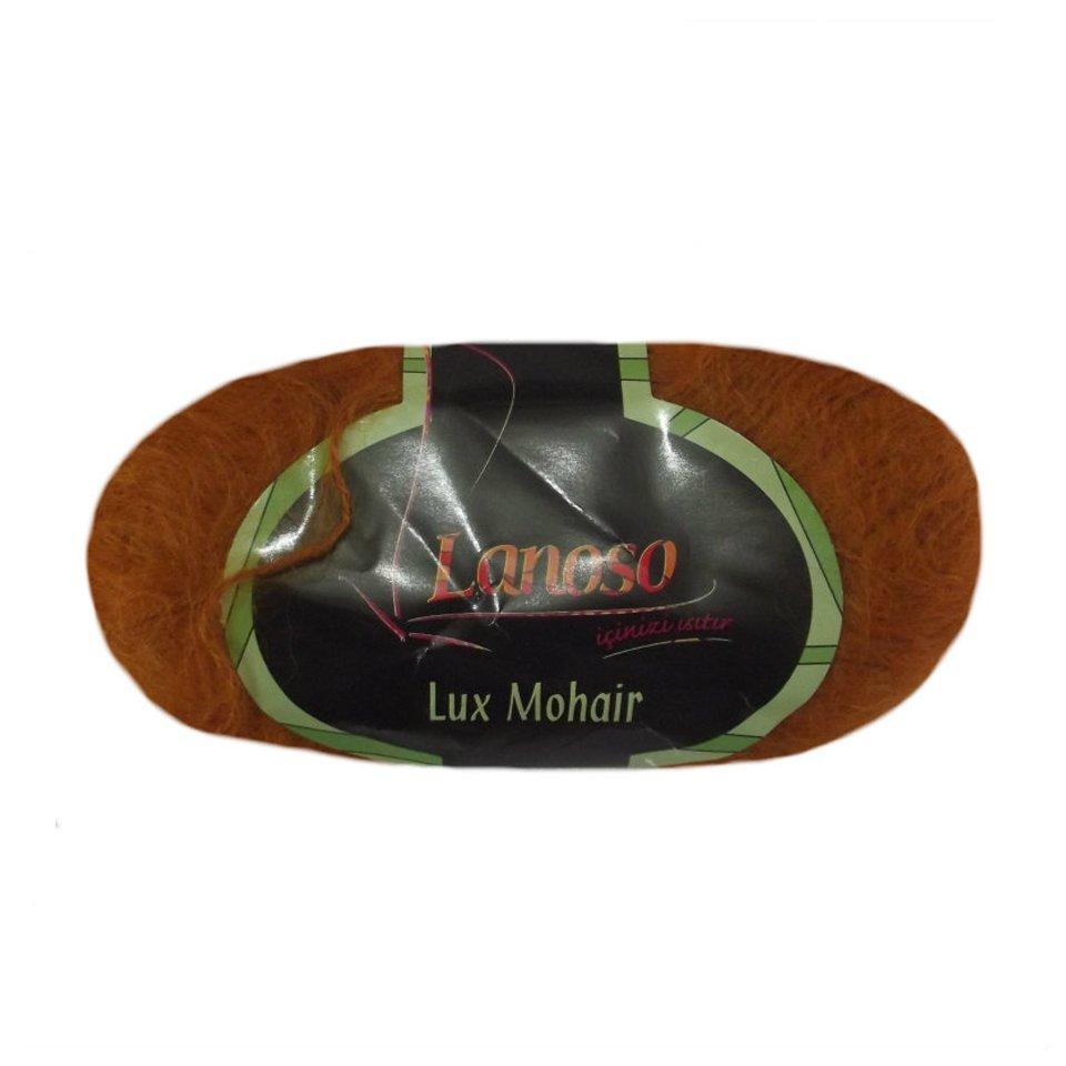 фото Оранжевая пряжа Lanoso Lux Mohair 605