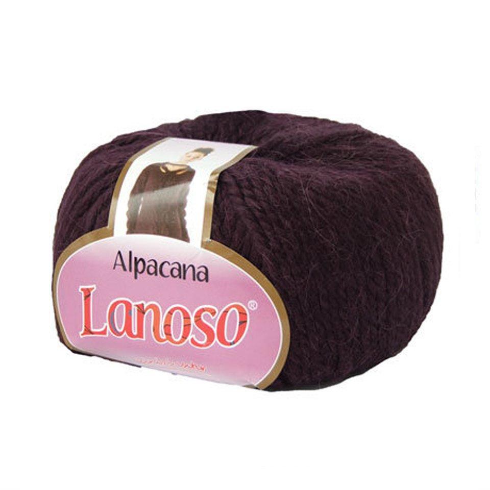 фото Фиолетовая пряжа Lanoso Alpacana 3011