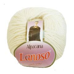 фото Белая пряжа Lanoso Alpacana 3002