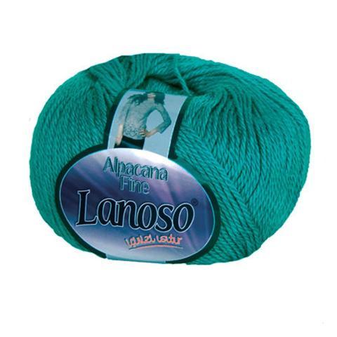 Зеленая пряжа Lanoso Alpacana Fine 916