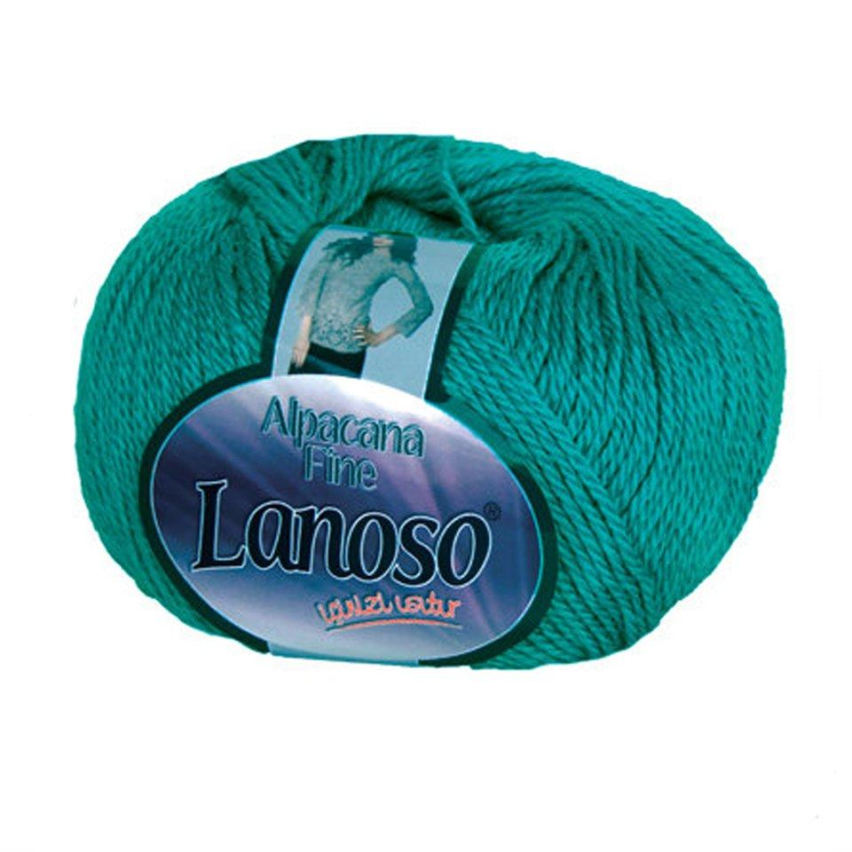 фото Зеленая пряжа Lanoso Alpacana Fine 916