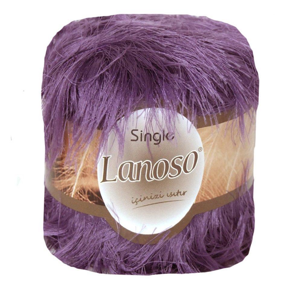фото Фиолетовая пряжа Lanoso Single 944