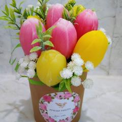 изображение Мыло ручной работы Тюльпаны