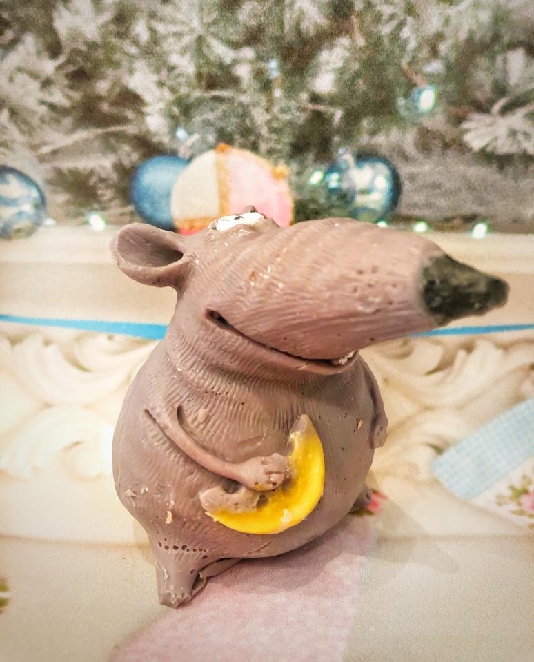фото Толстая мышка с сыром символ 2020 МЫЛО