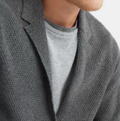 фотография Мужской кардиган серый из хлопка