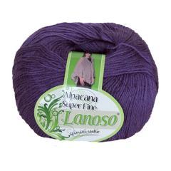 фото Фиолетовая пряжа Lanoso Super Fine 944