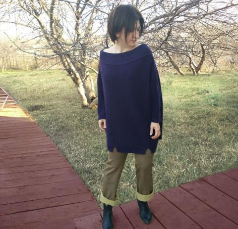 """Пуловер """" Жемч"""" Большие размеры"""