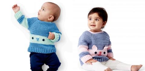 Как связать детский свитер крючком: картинка и описание