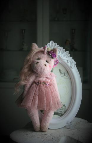 """Интерьерная игрушка Тедди """"Единорожка"""""""