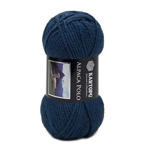 Синяя пряжа Kartopu Alpaca Polo K642