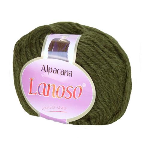 Оливковая пряжа Lanoso Alpacana 3020