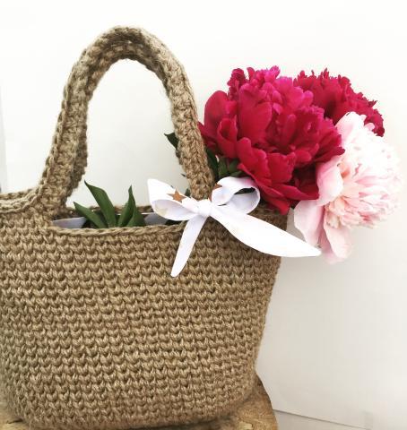 Вязаная эко сумка