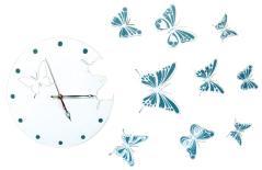 """изображение Часы """"Бабочки"""""""