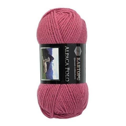 Розовая пряжа Kartopu Alpaca Polo K742