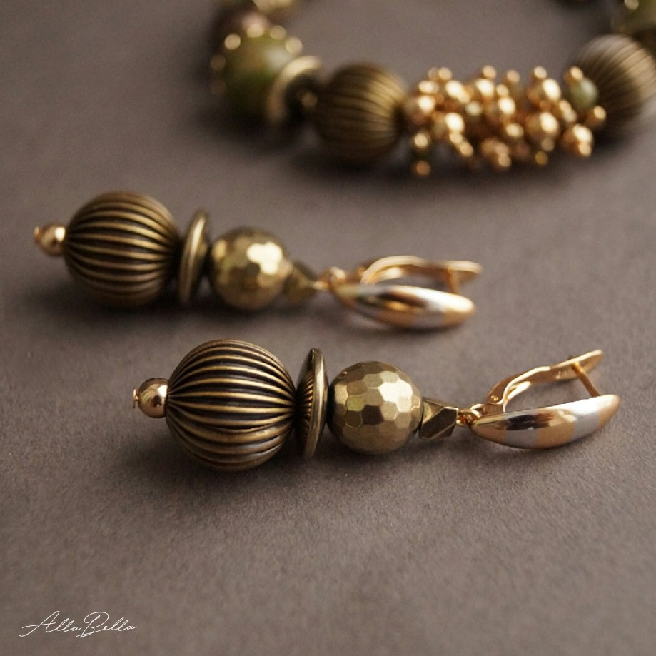 фото Комплект браслет и серьги