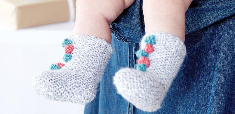 Фото для материала: Мягкие детские носочки с шишечками