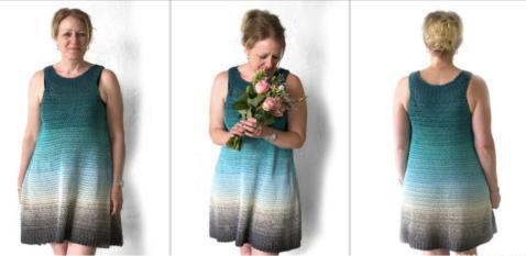 Как связать женское платье крючком