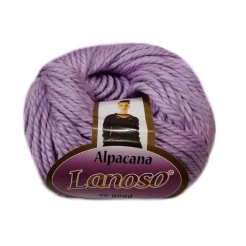 Фиолетовая пряжа Lanoso Alpacana 3008