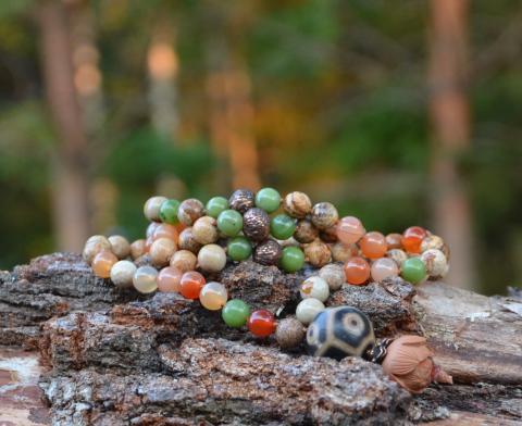 Четки-ожерелье из 108 бусин для мантр