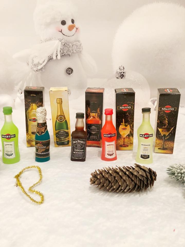 фото Мыло бутылочки, новогодний сувенир