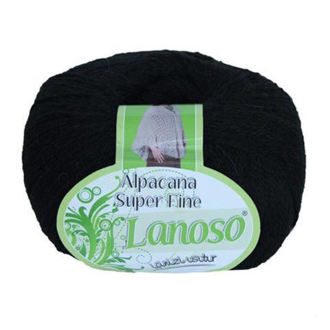 Черная пряжа Lanoso Alpacana SuperFine