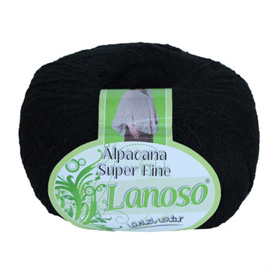 фото Черная пряжа Lanoso Alpacana SuperFine