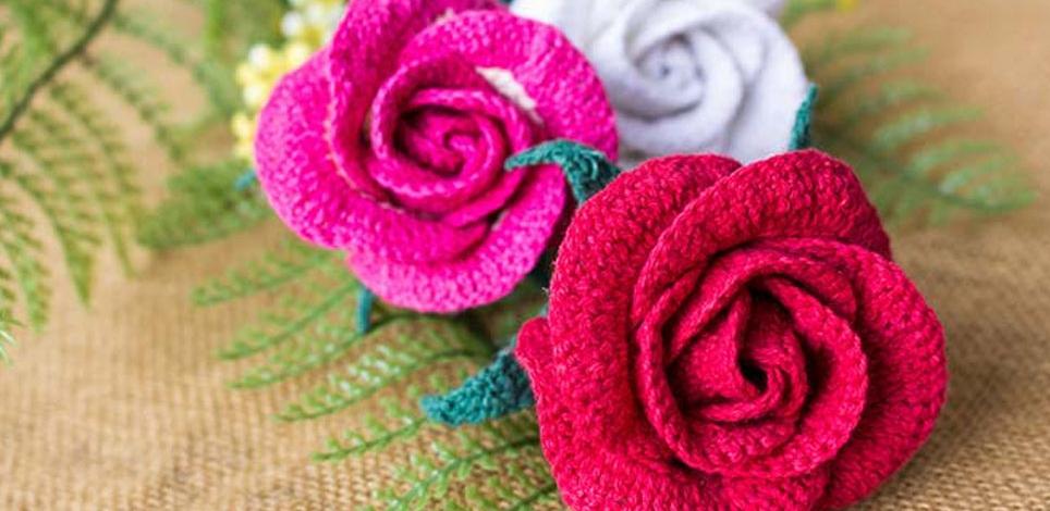 Фото для материала: Вязаные цветы крючком - мастер-класс
