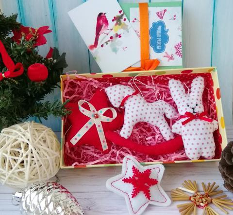 Набор текстильных Елочных игрушек